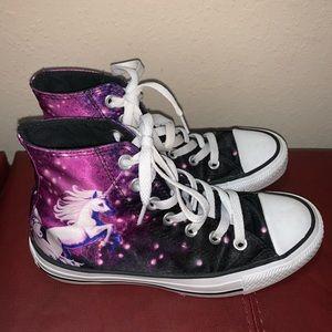 Unicorn converse shoes high top womens 6